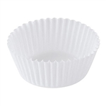 White Paper Round Baking Cup - 2.25 in. x 6 in.