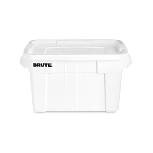 Brute White Tote with Lid - 20 Gal.