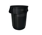Vented Brute Black Utility Container - 44 Gal.