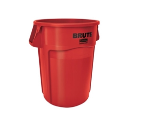 Vented Brute Red Utility Container - 44 Gal.