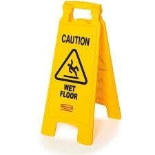 26 in. Multilingual Caution Sign 2-Sided Yellow