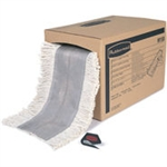 Select A Length White Dust Mop with 5 in. Fringe - 40 in. x 5 in.