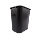 Medium Rectangle Black Wastebasket - 28 Qt.