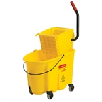 WaveBrake 35 QT Side-Press Bucket and Wringer Yellow