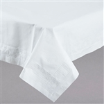 Tablecover Cellutex 3-Ply White Poly Folded - 54 in. x 108 in.