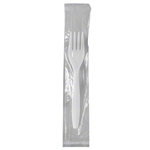 Fork Medium Weight White Individuall Wrapped