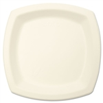 Sugarcane Square Plate Ivory - 6.7 in.