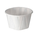 White Treated Paper Souffle Cup - 3.25 oz.
