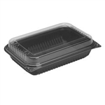 Creative Carryouts Hinged Polystyrene Plastic Rectangle Dinner Boxes - 64 Oz.