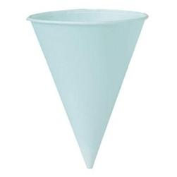 White Rolled Rim Cone Cup - 4 oz.