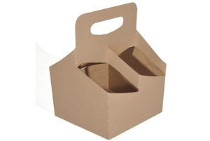 4-Cup Drink Carrier with Handle Paperboard - 6.5 in. x 6.25 in. x 9 in.
