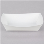 Plain White Food Trays - 6 Oz.