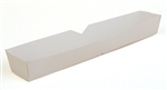 Plain Hot Dog Food Tray White - 10.25 in. x 1.5 in. x 1.25 in.