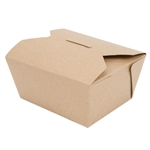 No.1 Champpak Retro Box Paper Kraft - 4.38 in. x 3.5 in. x 2.5 in.