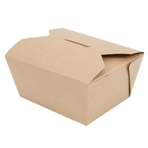 #1 Champpak Retro Box Paper Kraft - 4.38 in. x 3.5 in. x 2.5 in.