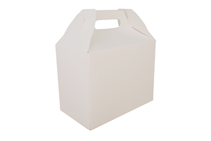 White Carry Out Barn Boxes - 8.88 in. x 5 in. x 6.75 in.