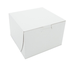 Paperboard White Non Window Lock Corner Bakery Box - 6 in. x 6 in. x 4 in.