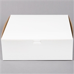 White Non-Window Bakery Boxes - 12 in. x 12 in. x 4 in.