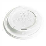 Sip Dome White Plastic Lid for 12-20 oz. Cup