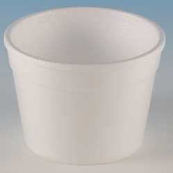 White Squat Space Saver Handi Foam Food Container - 4 oz.