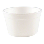 White Foam Food Container Space Saver Handi Kup  - 6 Oz.