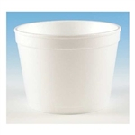 Handi-Kup Hot and Cold White Foam Food Container - 12 oz.