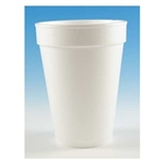 Compac High Sheen Disposable Insulated White Foam Cup - 14 oz.