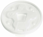 Drink Thru Lid For Hot And Cold Cup Snap Tab White
