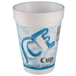 Ice Cup Print Blue and Red Foam Cup - 14 oz.