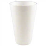White Foam Cup - 32 Oz.