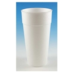 Hot and Cold White Foam Cup - 24 oz.