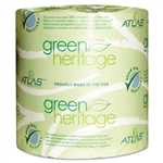 Green Heritage 1 Ply Toilet Tissue 1000-Sheets - 4.5 in. x 3.8 in.