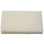 Light-Duty Scour Pad Nylon White - 6 in. x 9 in.