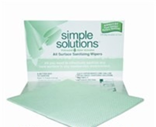 Simple Solutions Sanitizer Towel Green