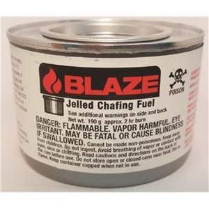 Jelled Methanol Solid Chafing Dish Fuel - 7 oz.