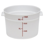 White Round Container without Graduations - 12 qt.