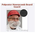 Disposable Polyester Honeycomb Beard Guard Black