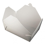 Bio-Pak White Paper Container - 8.5 in. x 6.25 in. x 2.5 in.
