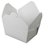 Bio-Pak White Paper Container - 5 in. x 4.5 in. x 2.5 in.