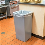 Gray Square Plastic Receptacle - 32 Gal.