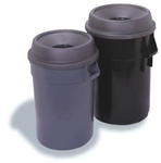 Funnel Top Trash Receptacle Gray - 32 Gallon