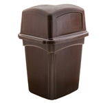 Colossus Brown Receptacle 2 Doors with Ashtop - 45 Gal.