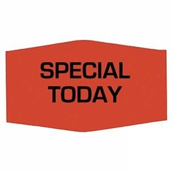 Special Today Label Red Day-Glo - 1.38 in. x 0.88 in.