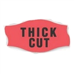 Day-Glo Fluorescent Red Thick Cut Label - 1.56 in. x 0.81 in.