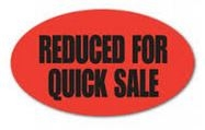 Reduced For Quick Sale Label Fluorescent Red
