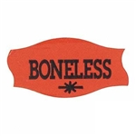 Boneless Label Red with Black Day-Glo - 1.56 in. x 0.81 in.