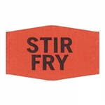 Stir Fry Small Label Red Day-Glo Black Print - 1.38 in. x 0.88 in.