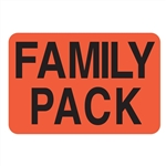 Super Kmart Day-Glo Red Family Pack Label Paper - 1.5 in. x 1.94 in.