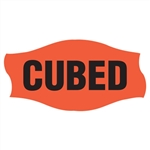 Curley-Q Day Glo Black Cubed Label - 1.56 in. x 0.81 in.