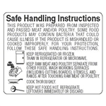 Safe Handling White and Black Instructions Special Label - 1.87 in. x 1.56 in.